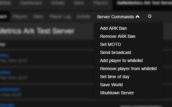 ARK server commands