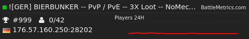 SCUM Server BIERBUNKER PvP/PvE
